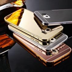 Husa / Bumper aluminiu + spate acril oglinda pentru Samsung Galaxy S7