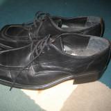 Pantofi piele - Pantof barbat, Marime: 40, Culoare: Negru