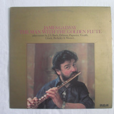 James Galway ‎– The Man With The Golden Flute _ vinyl, LP, UK - Muzica Clasica rca records, VINIL