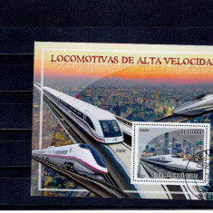 Sao Tome - trenuri rapide - Timbre straine, An: 2009, Transporturi, Stampilat