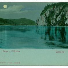 2625 - L i t h o, Danube Kazan, ORSOVA - old postcard - unused - Carte Postala Oltenia pana la 1904, Necirculata, Printata