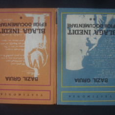 BAZIL GRUIA - BLAGA INEDIT * EFIGII DOCUMENTARE 2 volume