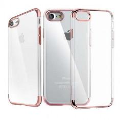 Husa iPhone 7 Dura BASEUS Glitter Series Roz Gold - Sticker Telefon