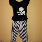 Costum de carnaval serbare pirata pentru fete de 7-8-9-10 ani - Costum Halloween, Marime: Masura unica, Culoare: Din imagine
