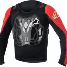 MXE Geaca Protectie corp Copii Alpinestars Bionic culoare Negru/Rosu Cod Produs: 27020195PE - Protectii moto