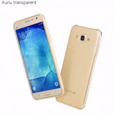 Husa HOCO ultra slim, SAMSUNG J5, gel TPU, fara capeta, GOLD transparent - Husa Telefon Hoco, Samsung Galaxy J5, Auriu