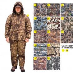 Costum Flausat Camuflaj cu Salopeta si Geaca Vanatoare Pescuit Compleu - Imbracaminte Pescuit Baracuda, Marime: L, XL, XXL, XXXL