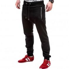 Pantaloni barbati p230 negru, Marime: S, M, L, XL, XXL, Lungi, Bumbac