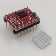 Modul driver A4988 cu radiator pt imprimanta 3D printer, motor pas-cu-pas (v.17)