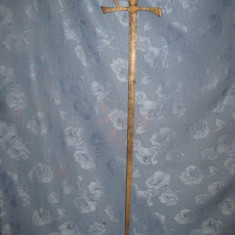 Sabie vintage PSL- maner bronz-lama otel gravata arabescuri si cavaleri.