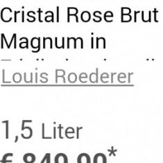 Louis Roederer Cristal Rose Brut Magnum 2007 1500 ml +Macalan 15Y cadou - Sampanie