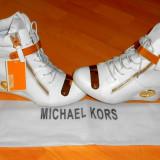 SNEAKERS MICHAEL KORS, LOGO METALIC AURIU /NEW MODEL - Ghete dama Michael Kors, Marime: 38
