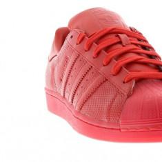 Adidasi Adidas Superstar Adicolor nr. 40 2/3, 41 1/3, 42, 42 2/3, 43 1/3 si 44 - Adidasi barbati, Culoare: Rosu, Piele naturala