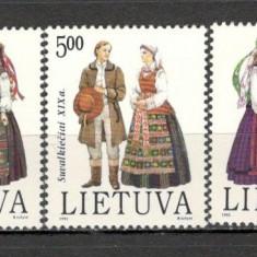 Lituania.1992 Costume populare KX.249 - Timbre straine, Nestampilat