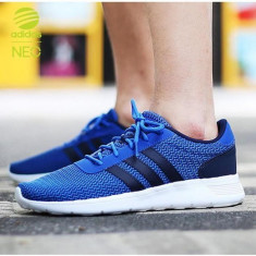 Adidasi 100 % originali ADIDAS NEO LITE RACER - Adidasi barbati, Marime: 42, 43 1/3, 44, 44 2/3, Culoare: Albastru, Textil