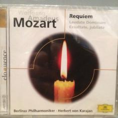 MOZART - REQUIEM (H.von KARAJAN)(1962/POLYDOR/GERMANY) - CD ORIGINAL/Sigilat/Nou, deutsche harmonia mundi