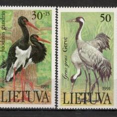Lituania.1991 Pasari KX.244 - Timbre straine, Nestampilat