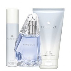 Apa parfum Perceive 50ml AVON + crema de corp + deodorant spray - Parfum femeie Avon, Apa de parfum, Floral oriental