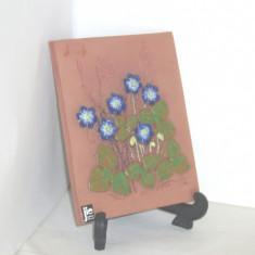 Tablou ceramica basorelief hand made - Anemone - semnat Aimo JIE Gantofta Suedia - Arta Ceramica