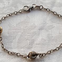 Bratara argint cu bilute din argint executate manual FINUTA superba DELICATA, Femei