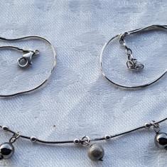 Colier argint cu Margelute Perlate si Argint delicat Finut Splendid IMPECABIL