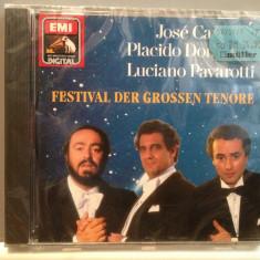 CARRERAS/DOMINGO/PAVAROTTI -FESTIVAL(1990/EMI/GERMANY) - CD ORIGINAL/Sigilat/Nou - Muzica Opera emi records