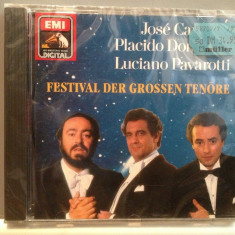 CARRERAS/DOMINGO/PAVAROTTI -FESTIVAL(1990/EMI/GERMANY) - CD ORIGINAL/Sigilat/Nou - Muzica Opera emi records