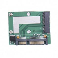 Adaptor convertor SSD mSATA la SATA HALF SIZE pt laptop - Adaptor interfata PC