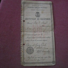 Certificat casatorie anul 1907 c3 - Diploma/Certificat