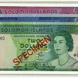 Solomon Island - Set SPECIMENE - 1, 5, 10 Dolari 1979 - UNC