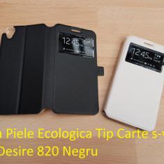 Husa Piele Ecologica Tip Carte s-view Htc Desire 820 Negru - Husa Telefon