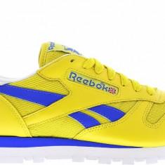 Adidasi Reebok Classic Leather marimea 42.5 - Adidasi barbati Reebok, Culoare: Galben, Piele naturala