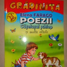 Elena Farago - Poezii - Catelusul schiop si alte poezii 16pagini - Carte poezie copii