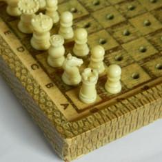 Joc de sah / piese de sah vechi, vintage, in cutie de calatorie - Set sah