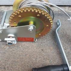 Troliu manual pe cablu 1000 lbs 450 kg - Troliu Auto