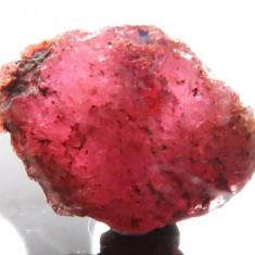 Rubin NATURAL  rosu-inchis  cristal BRUT MARE de 4,38 ct. - rar, Naturala