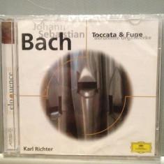 BACH - TOCCATA & FUGE(K.RICHTER) (1980/POLYDOR/UK) - CD ORIGINAL/Sigilat/Nou, deutsche harmonia mundi