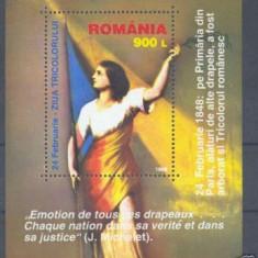 1998 Romania, LP 1448-Ziua tricolorului, colita-MNH - Timbre Romania, Nestampilat