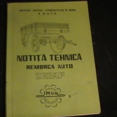 NOTITA TEHNICA-REMORCA AUTO-2 R 3AP-COJANU VICTOR-MIN. IND CONSTRUCT DE MASINI-