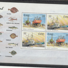 Fauna pesti, pescuit, pescadoare, Irlanda. - Timbre straine, Nestampilat
