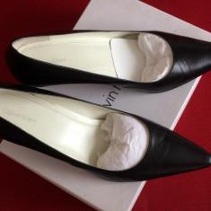 Pantofi cu toc Calvin Klein - Pantof dama Calvin Klein, Culoare: Negru, Marime: 42