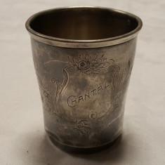 Pahar argint Paris Franta 1900 manufactura Luis Cognac Patina minunata frumos, Pahare