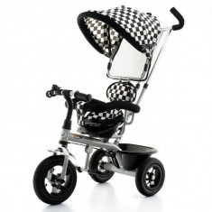 Tricicleta EURObaby T306 - Alb cu Negru - Tricicleta copii