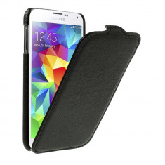 Husa flip neagra (textura Litchi) pentru Samsung Galaxy S5 G900 - Husa Telefon