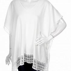 Bluza H & M, marime universala - Bluza dama H&m, Culoare: Alb, Casual, Bumbac