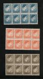 Lp 212 - Mihai I, format mic si mare - serie completa, blocuri de 8, Nestampilat