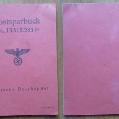 Lot de 3 carnete , un permis si un document , naziste