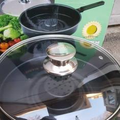 Tigaie 26cm magica Dry Cooker - Teflon + burete de curatare cadou