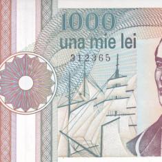 Bancnota Romania 1.000 Lei 1991 - P101A UNC ( serie cu punct ) - Bancnota romaneasca
