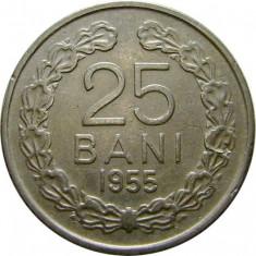 ROMANIA, 25 BANI 1955 * cod 48.4 - Moneda Romania, Cupru-Nichel